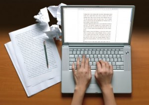 Writing and proofreading on a computer